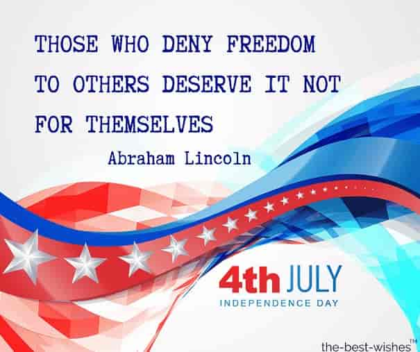 happy 4th of july quotes by abraham lincoln