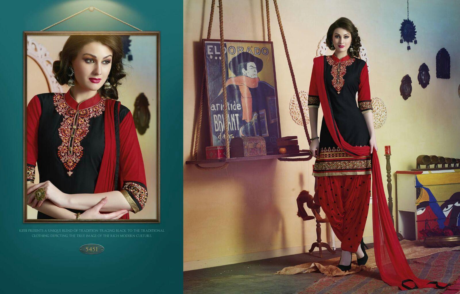 Patiyala House Vol 37 – Pure Cotton Embroidered Patiyala Dress