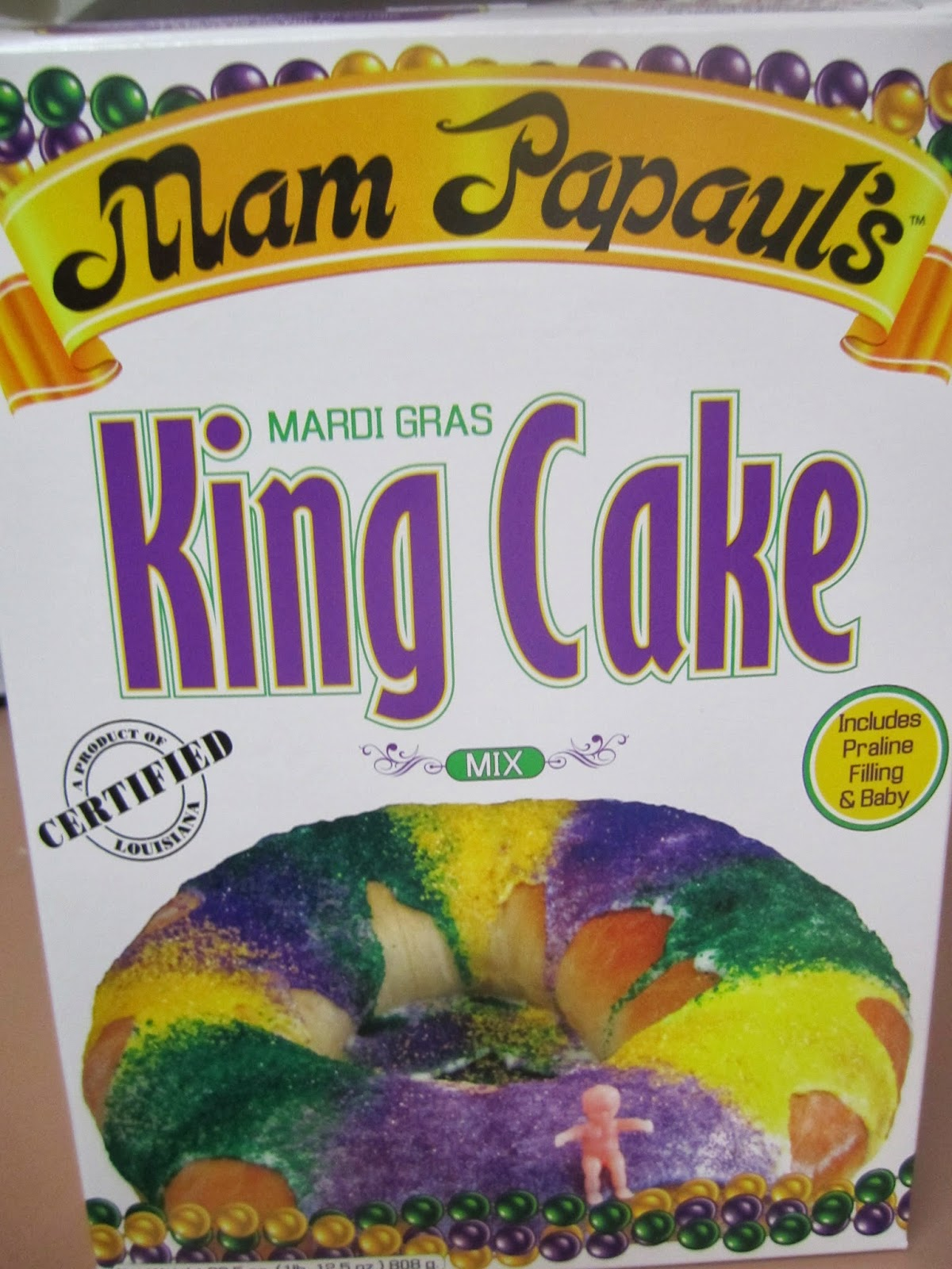 Mam Papaul's King Cake, Mardi Gras