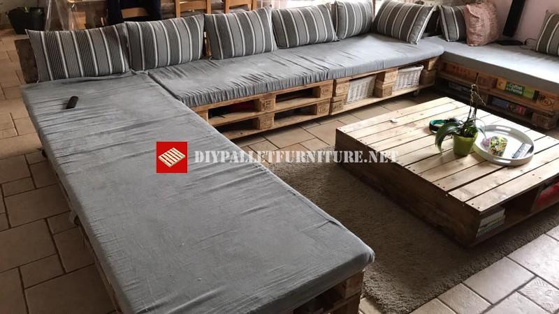 Super sof con palets - Construir sofa con palets ...
