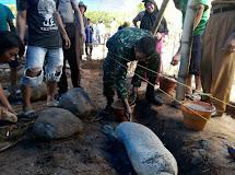 Babinsa Hadiri Peletakan Batu Pertama dalam Pembangunan Mushola