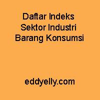 Daftar Indeks Sektor Industri Barang Konsumsi