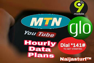 Glo, 9Mobile, MTN hourly YouTube data plans