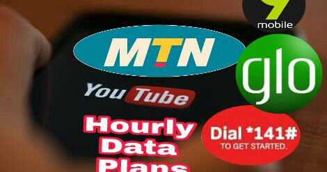 MTN, Glo, Airtel, 9Mobile Hourly YouTube Data Plans Subscription Codes