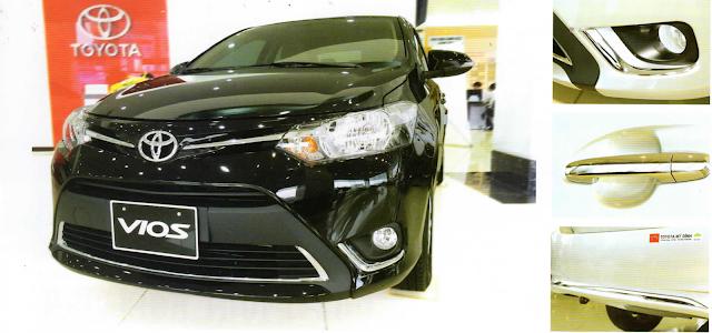 Xe Toyota Vios 2015 trang bị phụ kiện giúp tăng độ tinh tế và sang trọng