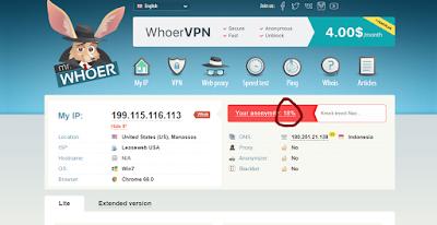 Cara Mudah Membuat Anonymity di Whoer.net Menjadi 100%