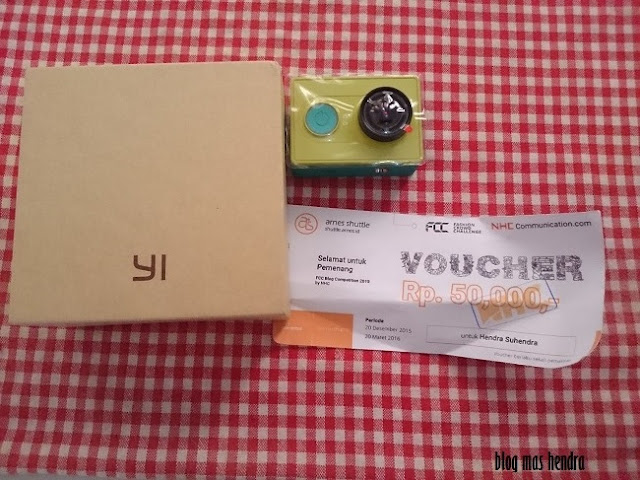 Kamera Xiaomi Yi Action dan Voucher Travel - Blog Mas Hendra