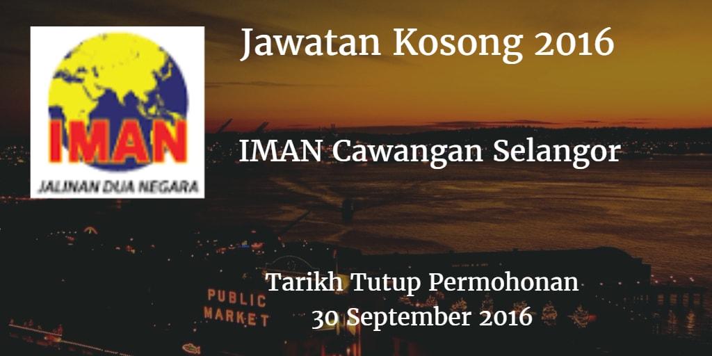 Jawatan Kosong IMAN Cawangan Selangor 30 September 2016
