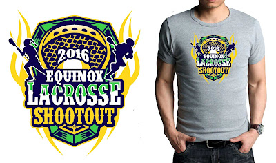 Stunning Color Separated Vector Logo Design For 2016 Equinox Lacrosse Shootout Awesome T Shirt