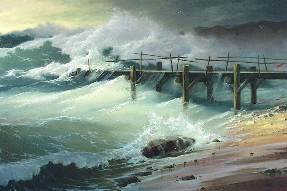 Cuadros pinturas oleos cuadros de marinas borrascosas for Cuadros de marinas