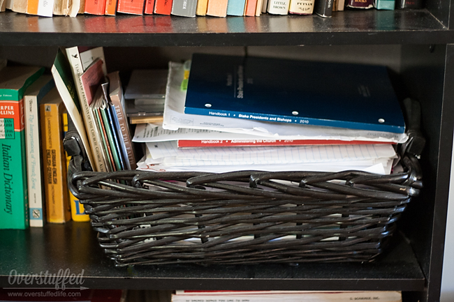 In an effort to corral clutter, sometimes we make the problem worse. Be careful with using baskets to collect clutter.