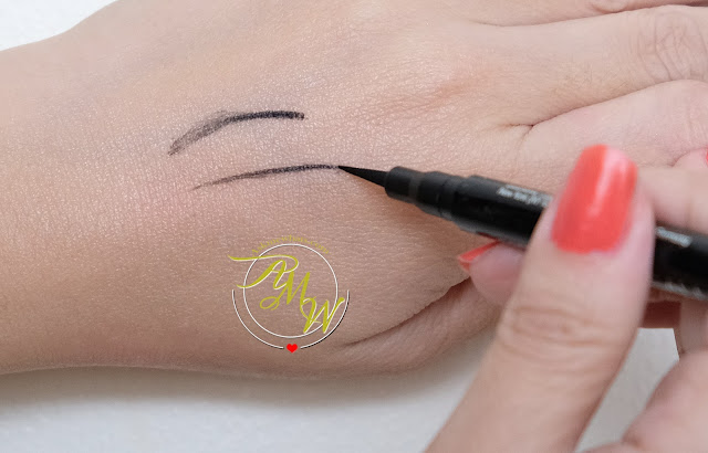 a swatch photo of Catrice Calligraph Ultra Slim Eyeliner Pen Review