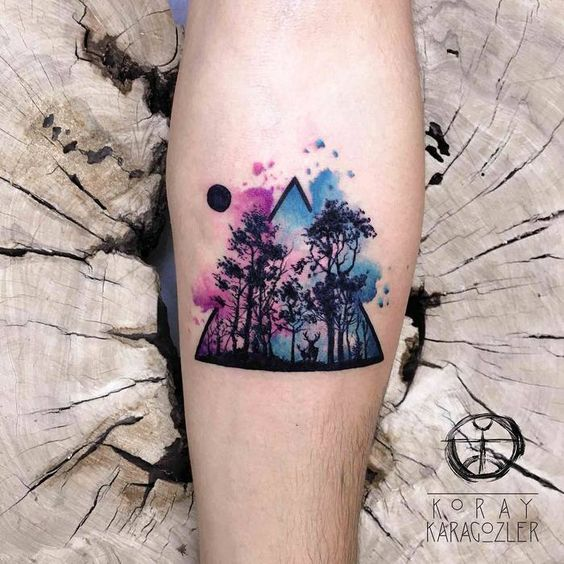 51 popular watercolor tattoos for fashionable women and for Water paint tattoo