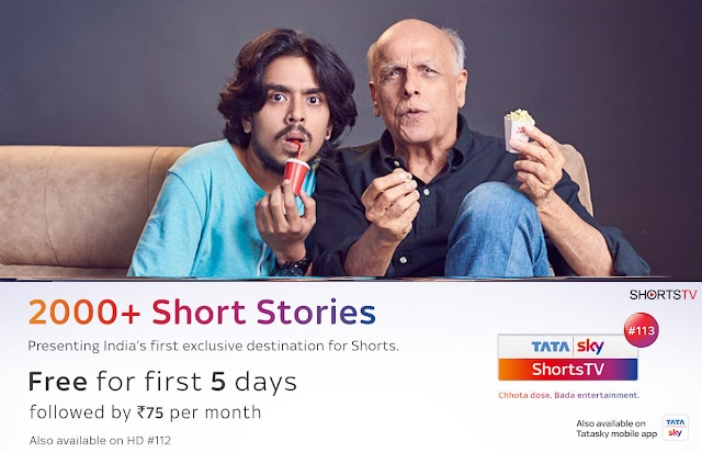 Tata Sky started India's first destination for Short stories
