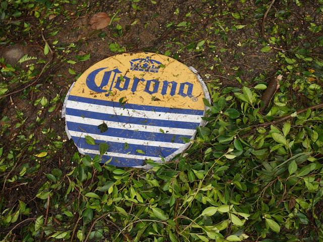 fallen Corona beer sign