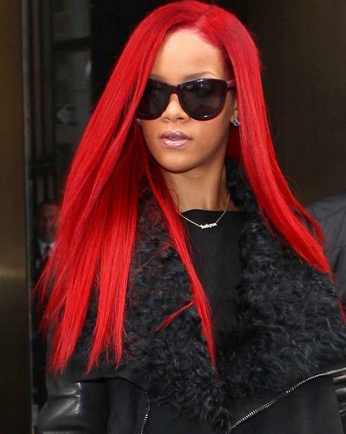 pearl concussion rihannas red hairstyles 2011