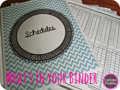 resources for your teacher binder