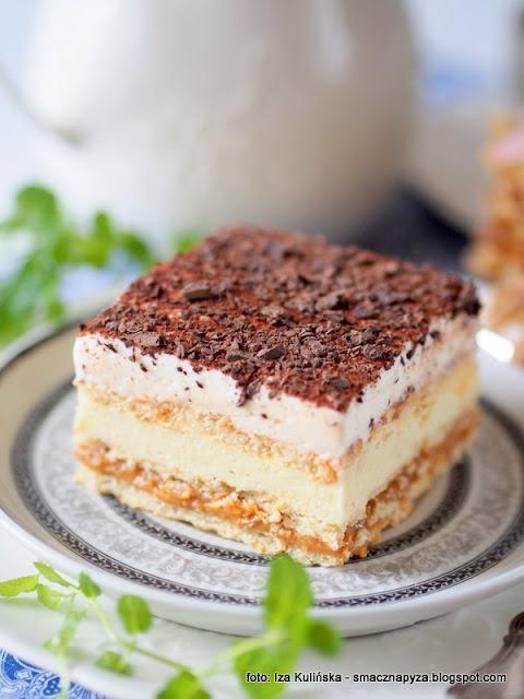 3 bit, ciasto na zimno, na krakersach, krakersy, kajmak, ciasta domowe, deser, krem budyniowy, z kremem, slodkosci, slodycze, z bita smietana