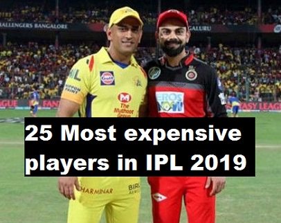 IPL 2019: Top 25 Most expensive, highest-paid players list ahead of new season.
