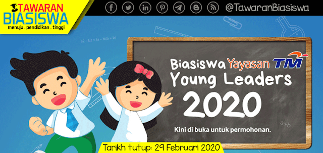 Permohonan Biasiswa Young Leaders Yayasan Telekom Malaysia 2020