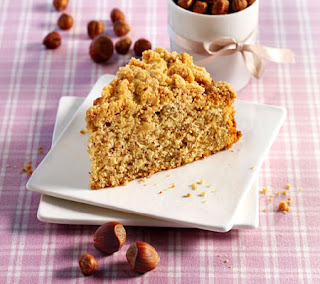 hazelnut and honey cake with spicy crumble recipe
