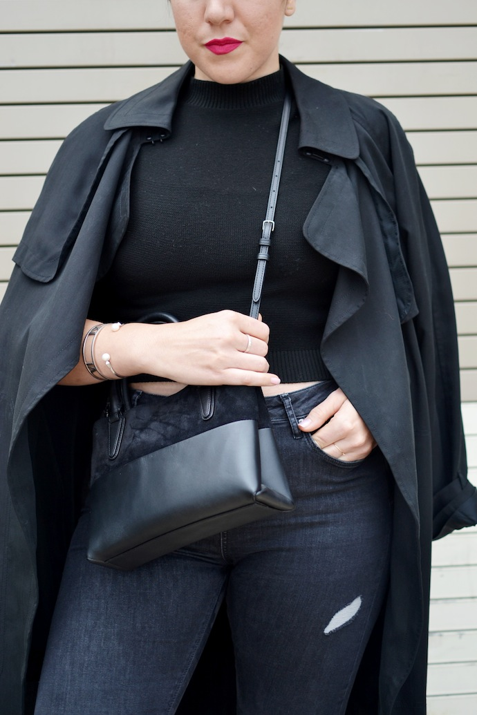 Aritzia Babaton trench Vancouver blogger Coach Borough mini bag