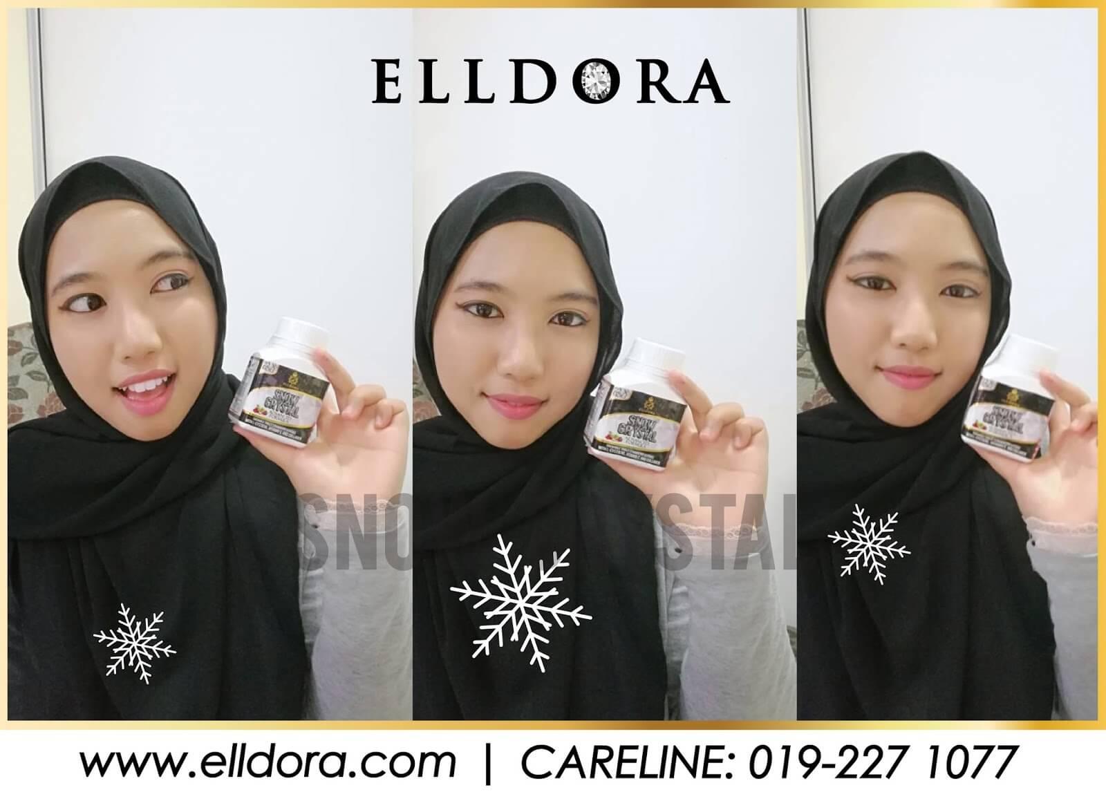 Snow Crystal Elldora Tablet Kunyah Untuk Kulit Cantik dan Berseri