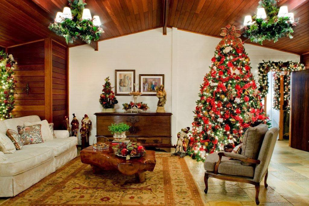 C mo decorar la sala para navidad colores en casa - Decoracion navidad casa ...