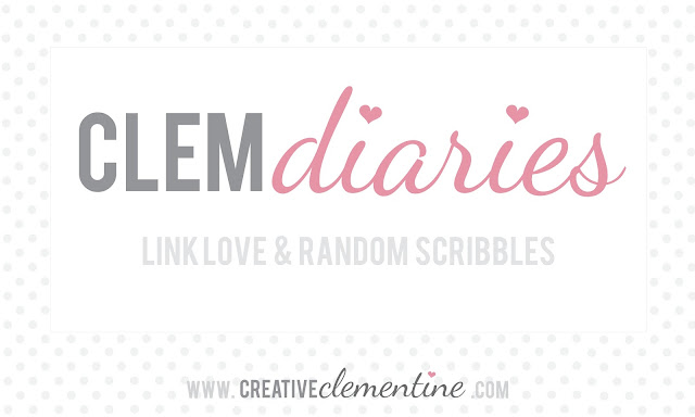 Clem diaries: a roundup of links to things I've done, made, cooked, eaten, bought, loved, or viewed lately.