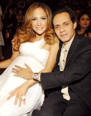 Foto de Marc Anthony junto a su ex esposa Jennifer López