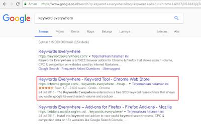 riset menggunakan google keyword planner tools