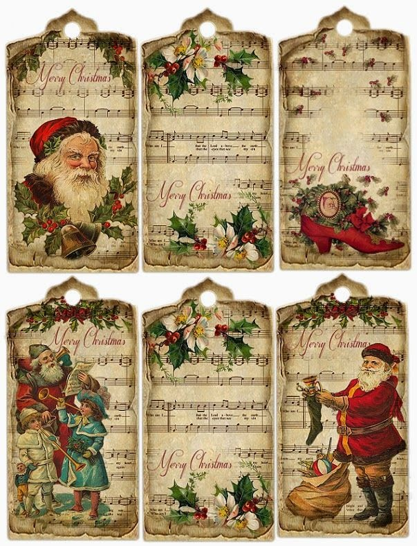It's just a photo of Effortless Vintage Christmas Labels to Print