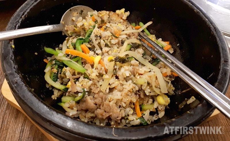 Daega korean bbq restaurant myeongdong seoul korea beef bibimbap mixed rice