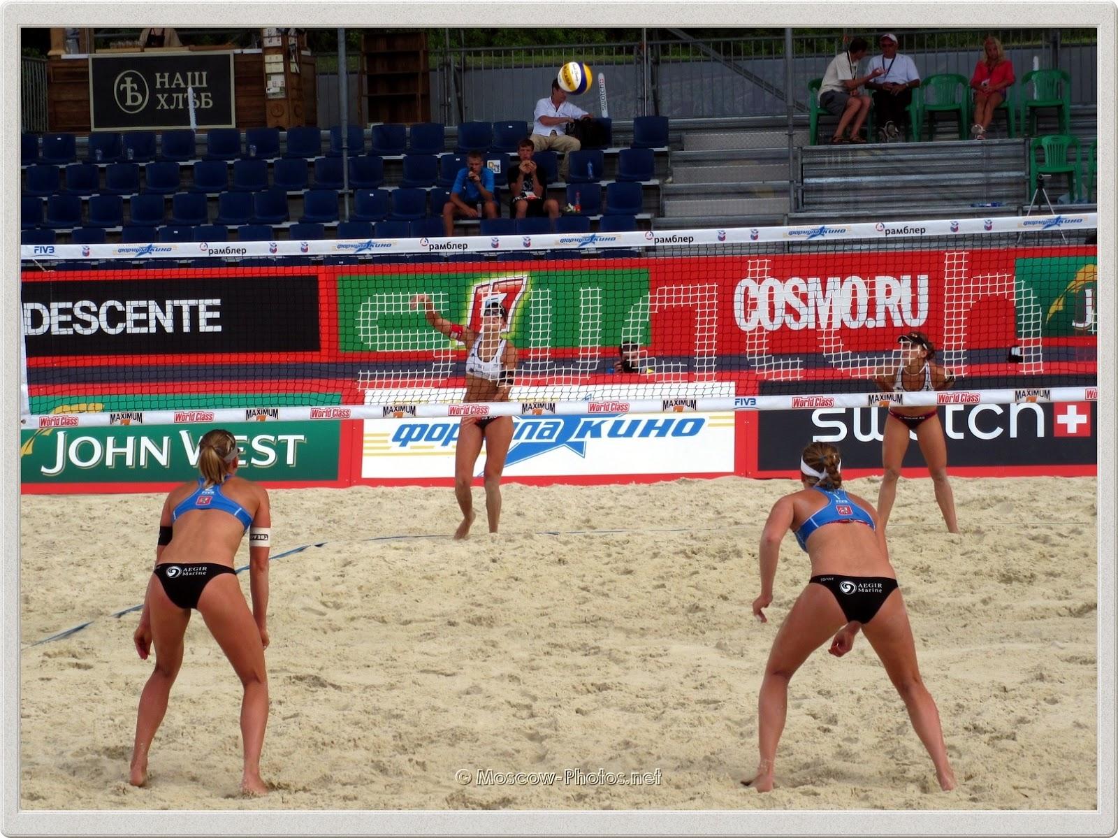 Defense of Dutch Women's Beach Volleyball Team