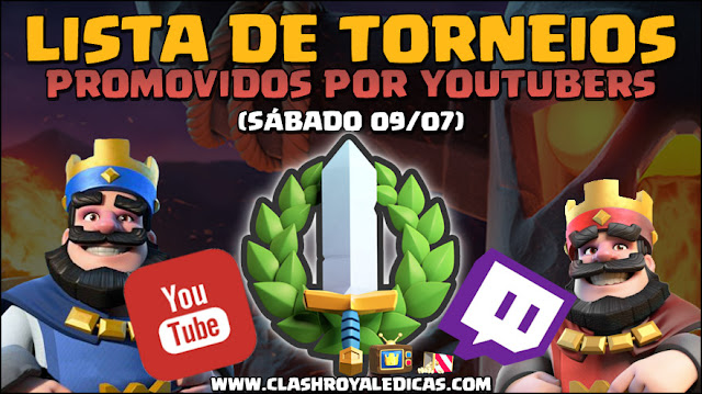 Torneios de Youtubers no Clash Royale