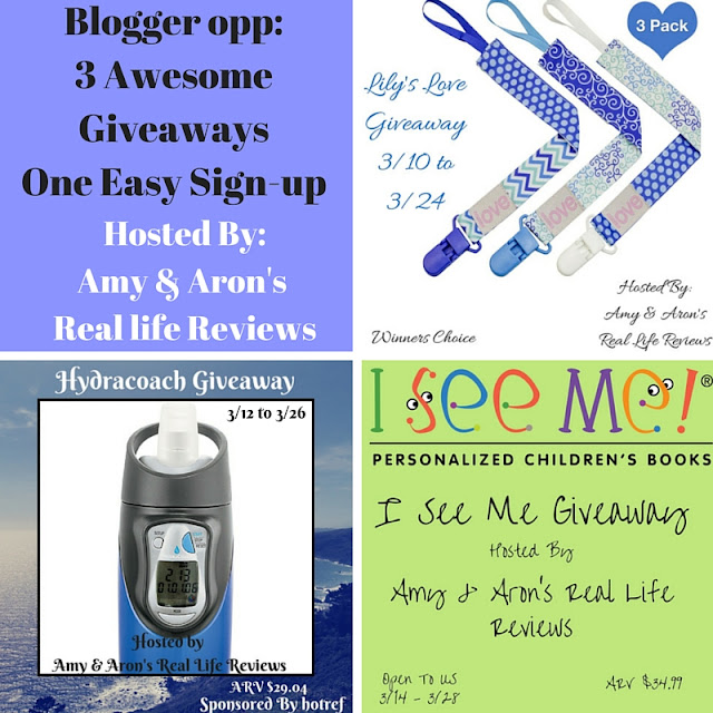 Giveaway Events – One Sign-Up, Three Giveaways