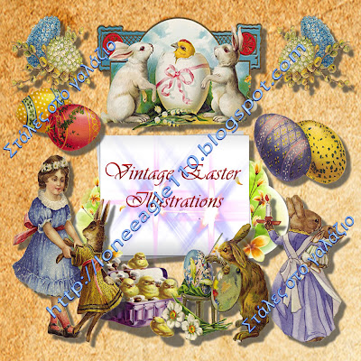 Vintage Easter Illustrations, Cliparts, Graphic Design, Easter Stuff, Holidays Stuff