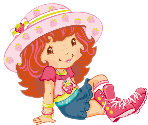 Cartoon characters strawberry shortcake png - Dessin charlotte aux fraises ...