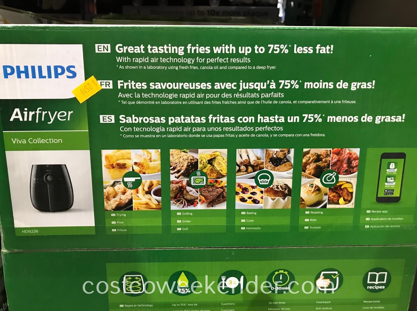 Costco 1242988 - Philips Air Fryer (HD9226): great tasting fries with up to 75% less fat