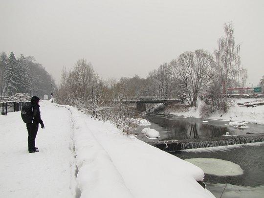 isła Dziechcinka. Przed mostem na Wiśle.