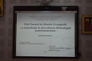 Sustinerea Tezei de Doctorat a Parintelui Arhid. Iosif Moldovan
