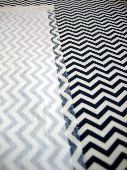 Iron on interfacing with chevron fabric