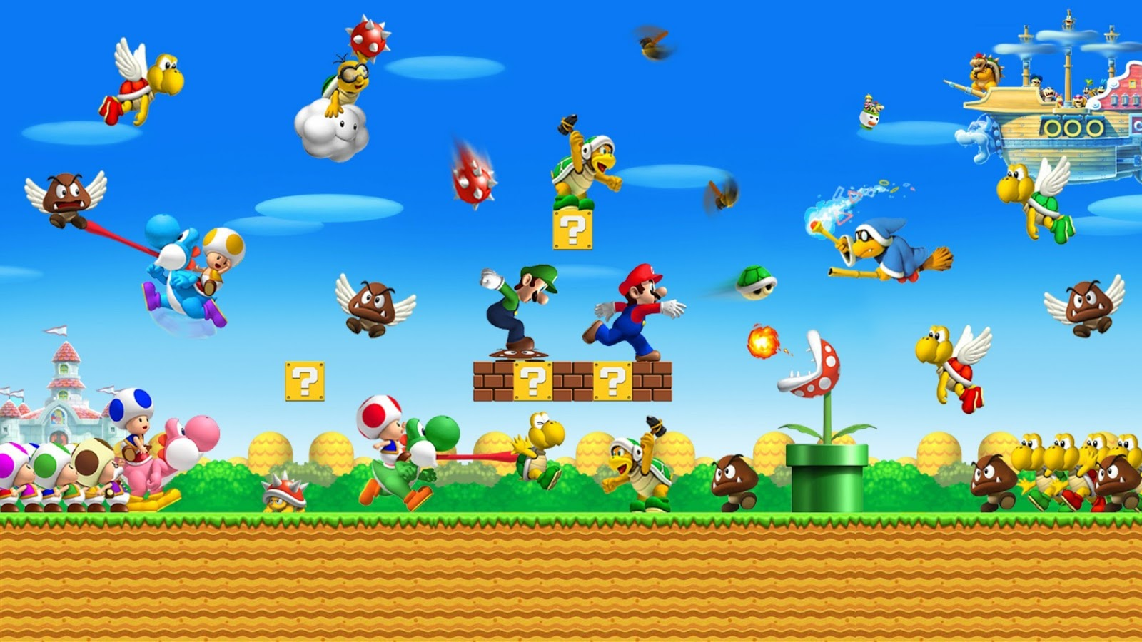Super Mario Bros HD 3D | AngryJulio