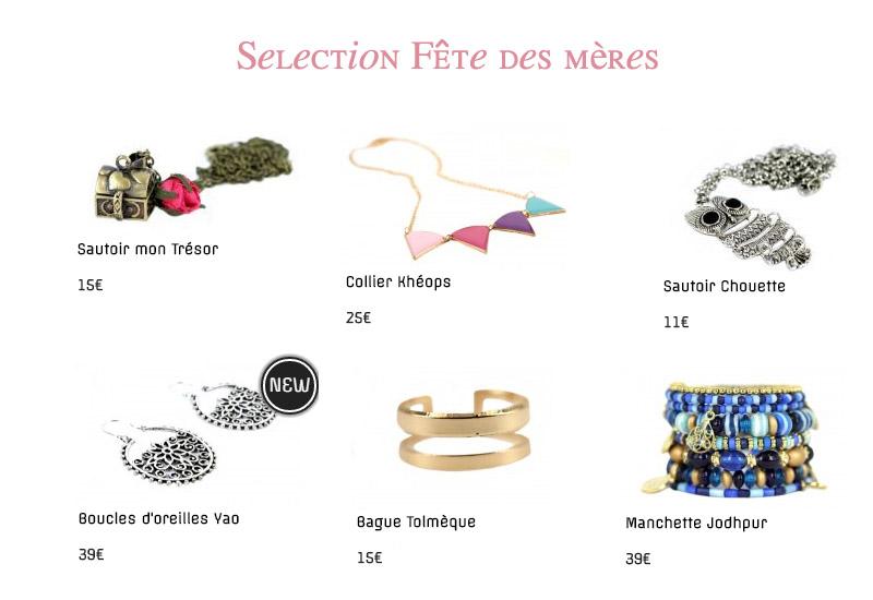 selection de bijoux fêtes des mères Bijoux Chérie
