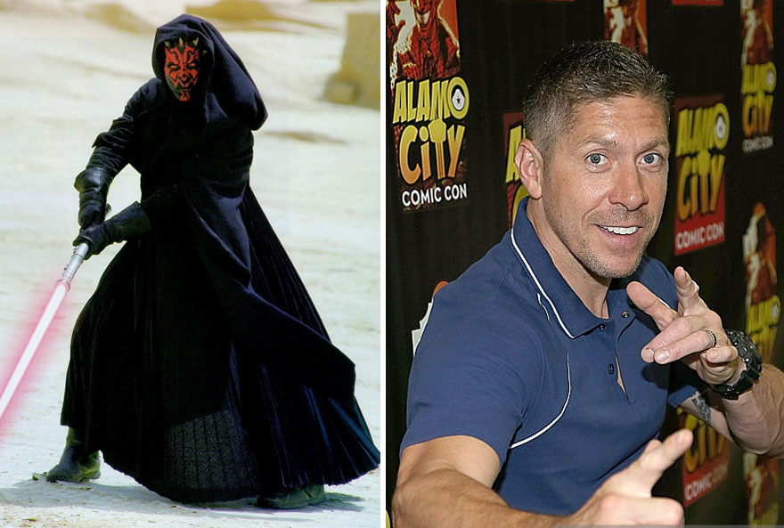Ray Park As Darth Maul,1999 And 2015