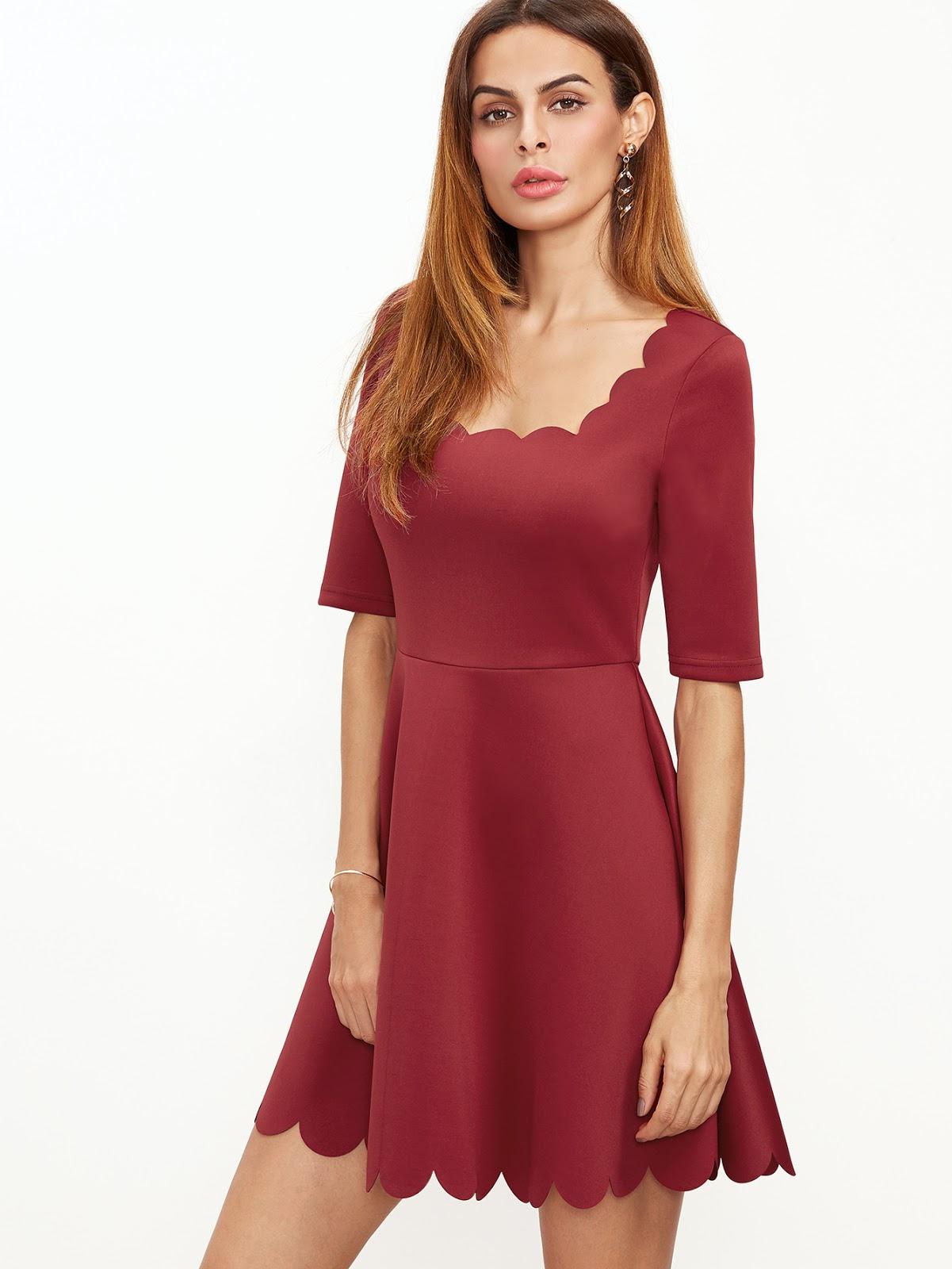 Vestidos de fiesta de color rojo cortos