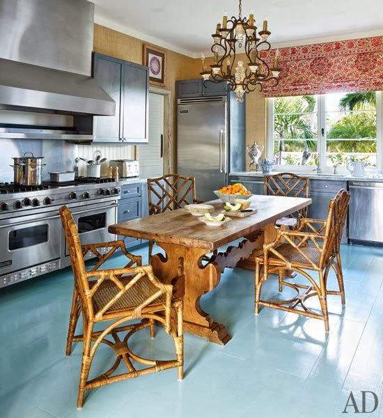 Tropical Beach House Interior: New Home Interior Design: Bright Colors Transform A
