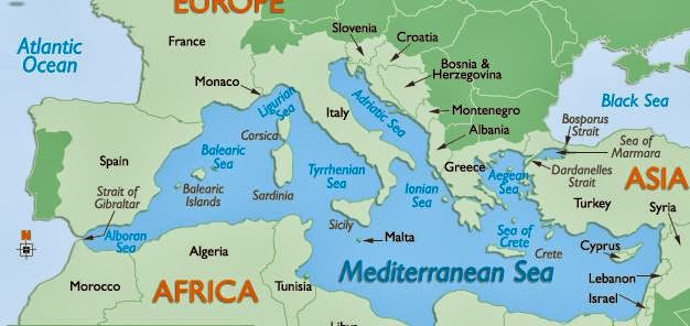 Mare Mediterraneo Cartina.Ripasso Facile Riassunto Mare Mediterraneo
