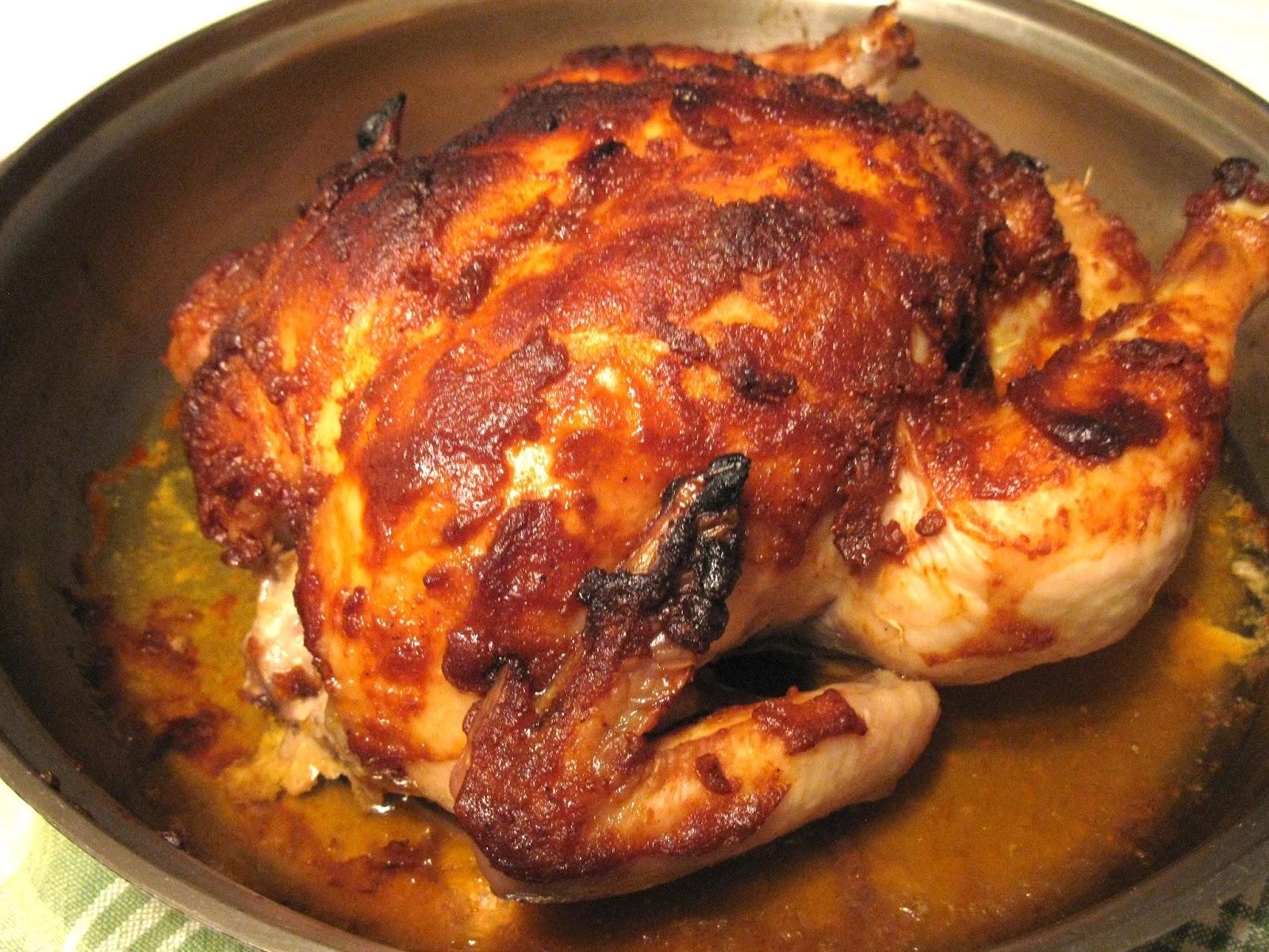 Ma cuisine sans pr tention poulet r ti au four - Cuisse de poulet grille au four ...