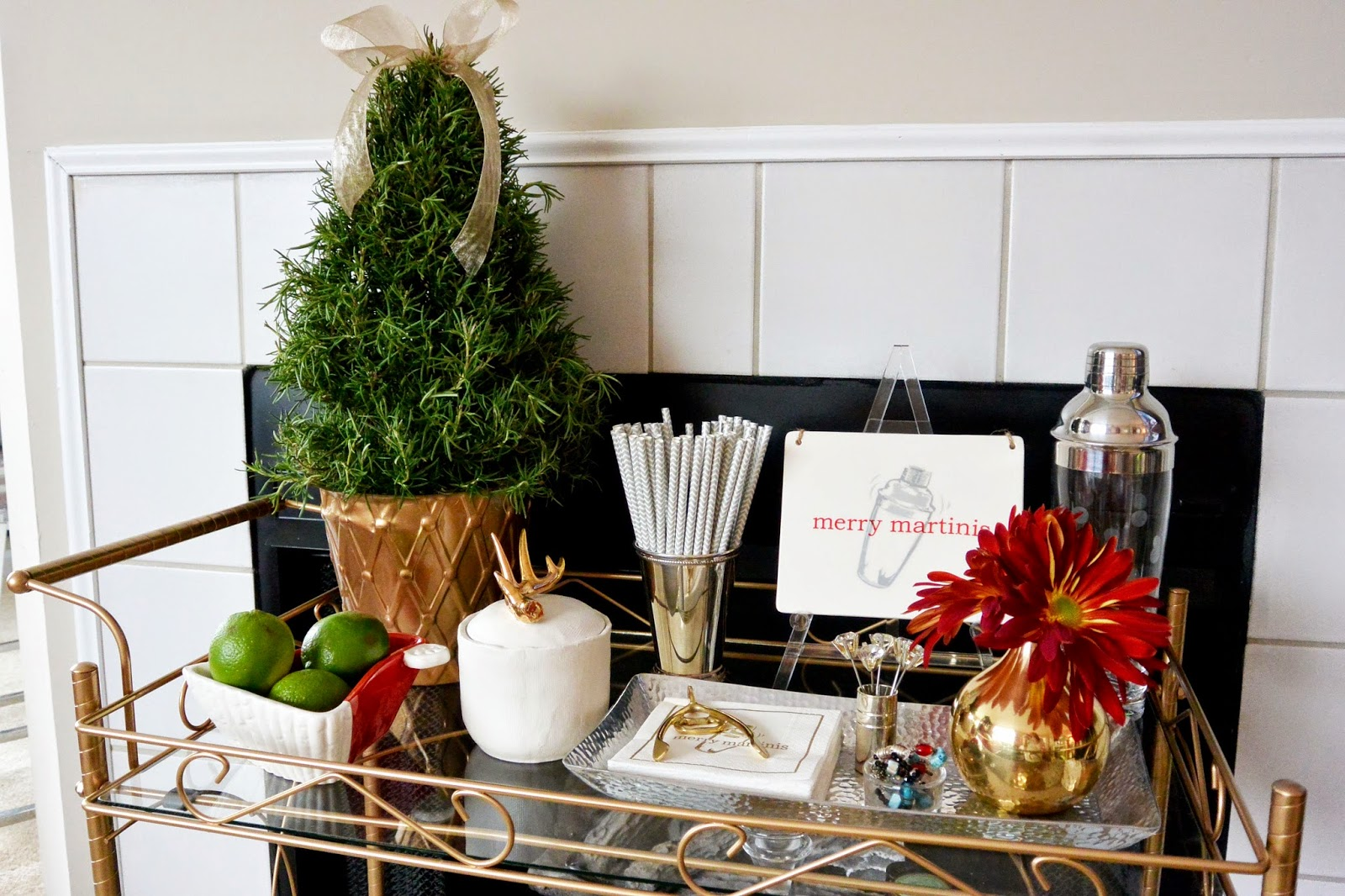 Life with a Dash of Whimsy: How to Decorate your Bar Cart for the ...